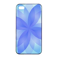 Abstract Lotus Flower 1 Apple iPhone 4/4s Seamless Case (Black)