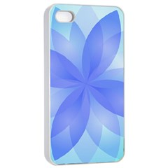 Abstract Lotus Flower 1 Apple Iphone 4/4s Seamless Case (white)