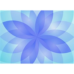 Abstract Lotus Flower 1 Birthday Cake 3d Greeting Card (7x5)