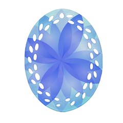 Abstract Lotus Flower 1 Oval Filigree Ornament (2-Side)