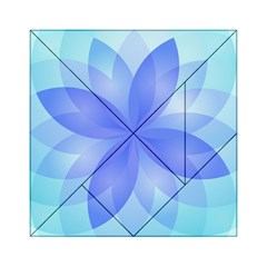 Abstract Lotus Flower 1 Acrylic Tangram Puzzle (6  x 6 )