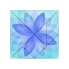Abstract Lotus Flower 1 Acrylic Tangram Puzzle (4  x 4 )
