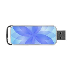 Abstract Lotus Flower 1 Portable USB Flash (Two Sides)