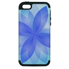 Abstract Lotus Flower 1 Apple iPhone 5 Hardshell Case (PC+Silicone)