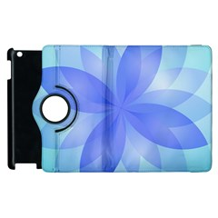 Abstract Lotus Flower 1 Apple Ipad 2 Flip 360 Case