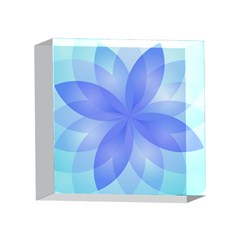 Abstract Lotus Flower 1 4 x 4  Acrylic Photo Blocks