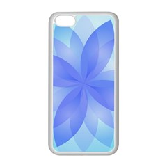 Abstract Lotus Flower 1 Apple iPhone 5C Seamless Case (White)