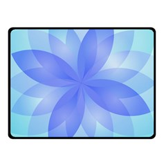 Abstract Lotus Flower 1 Double Sided Fleece Blanket (small)