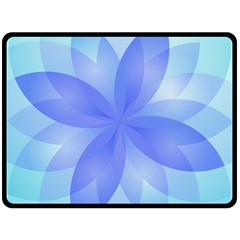 Abstract Lotus Flower 1 Double Sided Fleece Blanket (Large)