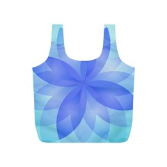 Abstract Lotus Flower 1 Full Print Recycle Bags (S)