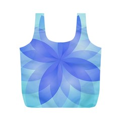 Abstract Lotus Flower 1 Full Print Recycle Bags (M)