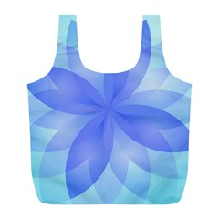 Abstract Lotus Flower 1 Full Print Recycle Bags (l)