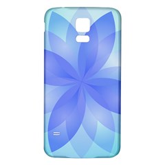 Abstract Lotus Flower 1 Samsung Galaxy S5 Back Case (White)