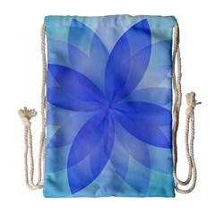 Abstract Lotus Flower 1 Drawstring Bag (large)