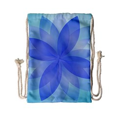 Abstract Lotus Flower 1 Drawstring Bag (Small)