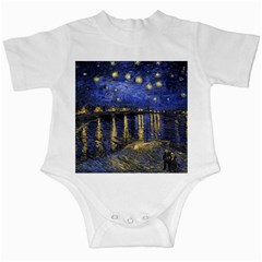 Vincent Van Gogh Starry Night Over The Rhone Infant Creepers