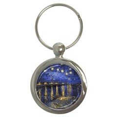 Vincent Van Gogh Starry Night Over The Rhone Key Chains (Round)