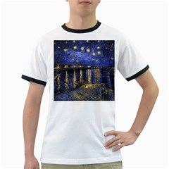 Vincent Van Gogh Starry Night Over The Rhone Ringer T Shirts