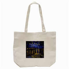 Vincent Van Gogh Starry Night Over The Rhone Tote Bag (Cream)