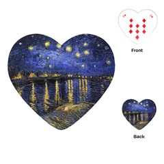 Vincent Van Gogh Starry Night Over The Rhone Playing Cards (Heart)