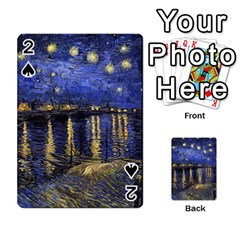 Vincent Van Gogh Starry Night Over The Rhone Playing Cards 54 Designs