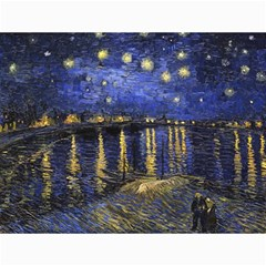 Vincent Van Gogh Starry Night Over The Rhone Canvas 12  x 16