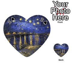 Vincent Van Gogh Starry Night Over The Rhone Playing Cards 54 (Heart)