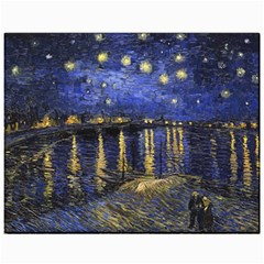 Vincent Van Gogh Starry Night Over The Rhone Canvas 11  x 14