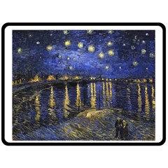 Vincent Van Gogh Starry Night Over The Rhone Fleece Blanket (large)
