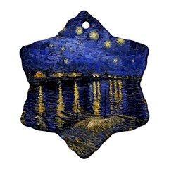 Vincent Van Gogh Starry Night Over The Rhone Ornament (Snowflake)