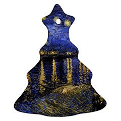 Vincent Van Gogh Starry Night Over The Rhone Christmas Tree Ornament (2 Sides)