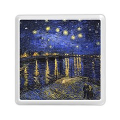 Vincent Van Gogh Starry Night Over The Rhone Memory Card Reader (Square)
