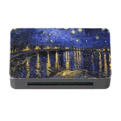 Vincent Van Gogh Starry Night Over The Rhone Memory Card Reader With Cf