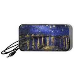 Vincent Van Gogh Starry Night Over The Rhone Portable Speaker (Black)