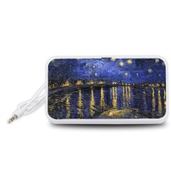 Vincent Van Gogh Starry Night Over The Rhone Portable Speaker (White)