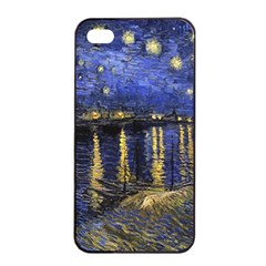 Vincent Van Gogh Starry Night Over The Rhone Apple Iphone 4/4s Seamless Case (black)