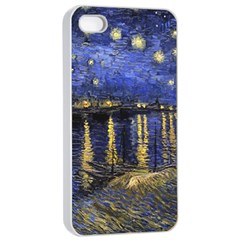 Vincent Van Gogh Starry Night Over The Rhone Apple iPhone 4/4s Seamless Case (White)