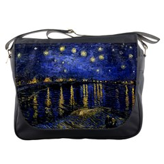 Vincent Van Gogh Starry Night Over The Rhone Messenger Bags