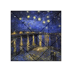 Vincent Van Gogh Starry Night Over The Rhone Acrylic Tangram Puzzle (4  X 4 )