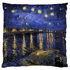 Vincent Van Gogh Starry Night Over The Rhone Large Cushion Cases (One Side)