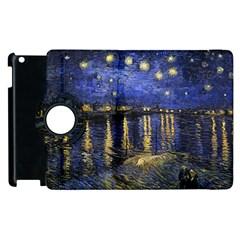 Vincent Van Gogh Starry Night Over The Rhone Apple iPad 2 Flip 360 Case