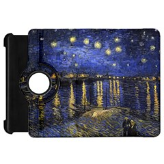 Vincent Van Gogh Starry Night Over The Rhone Kindle Fire HD Flip 360 Case