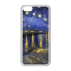 Vincent Van Gogh Starry Night Over The Rhone Apple Iphone 5c Seamless Case (white)