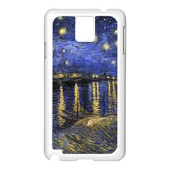 Vincent Van Gogh Starry Night Over The Rhone Samsung Galaxy Note 3 N9005 Case (white)