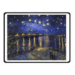 Vincent Van Gogh Starry Night Over The Rhone Double Sided Fleece Blanket (Small)