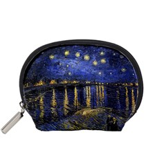 Vincent Van Gogh Starry Night Over The Rhone Accessory Pouches (Small)