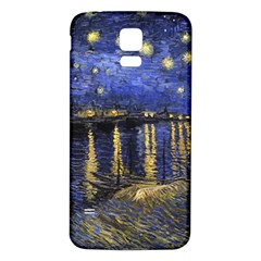 Vincent Van Gogh Starry Night Over The Rhone Samsung Galaxy S5 Back Case (White)