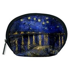 Vincent Van Gogh Starry Night Over The Rhone Accessory Pouches (Medium)