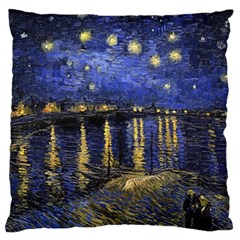 Vincent Van Gogh Starry Night Over The Rhone Standard Flano Cushion Cases (One Side)