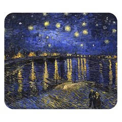 Vincent Van Gogh Starry Night Over The Rhone Double Sided Flano Blanket (Small)